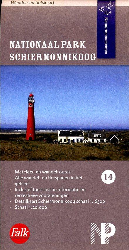 NM-14  Schiermonnikoog 1:25.000 9789028727625  Natuurmonumenten Wandelkaarten 1:20d.  Wandelkaarten Waddeneilanden en Waddenzee