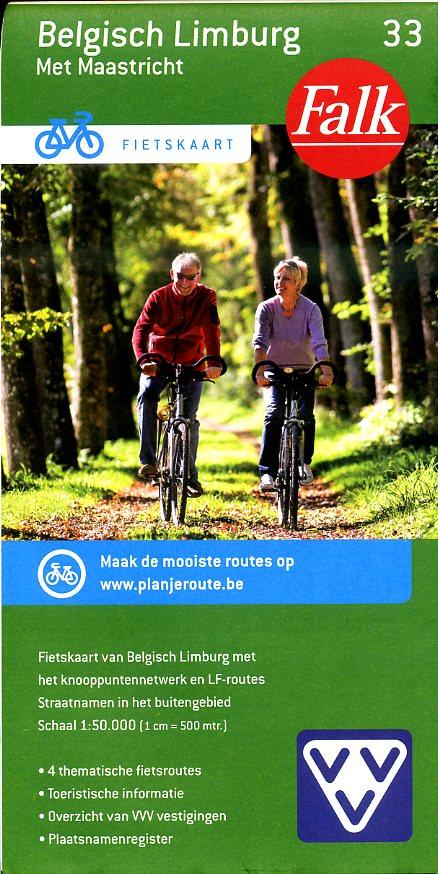 FFK-33 Belgisch Limburg | VVV fietskaart 1:50.000 9789028727878  Falk Fietskaarten met Knooppunten  Fietskaarten Vlaanderen & Brussel