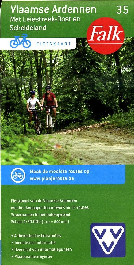 FFK-35 Vlaamse Ardennen | VVV fietskaart 1:50.000 9789028727915  Falk Fietskaarten met Knooppunten  Fietskaarten Vlaanderen