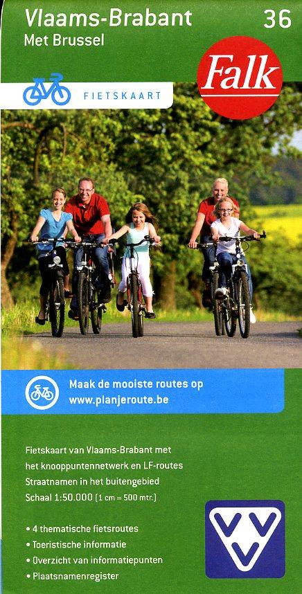 FFK-36 Vlaams-Brabant | VVV fietskaart 1:50.000 9789028727922  Falk Fietskaarten met Knooppunten  Fietskaarten Vlaanderen