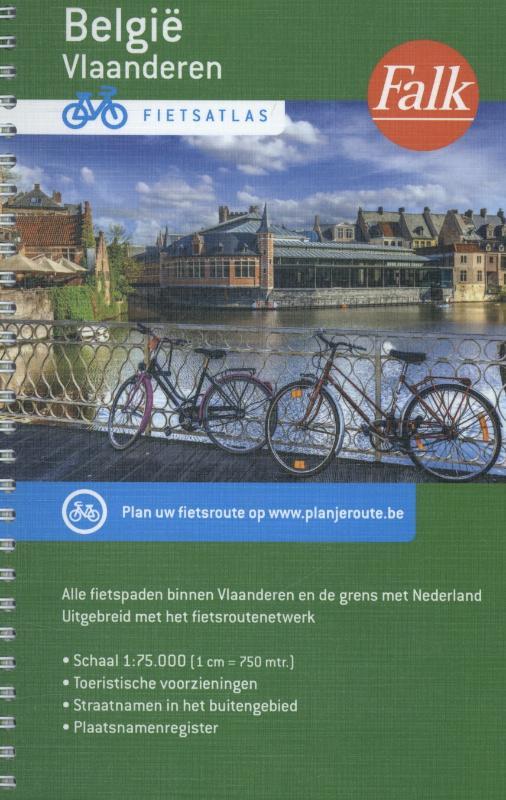 Falk Fietsatlas Vlaanderen 9789028729742  Falk   Fietsgidsen, Meerdaagse fietsvakanties Vlaanderen & Brussel