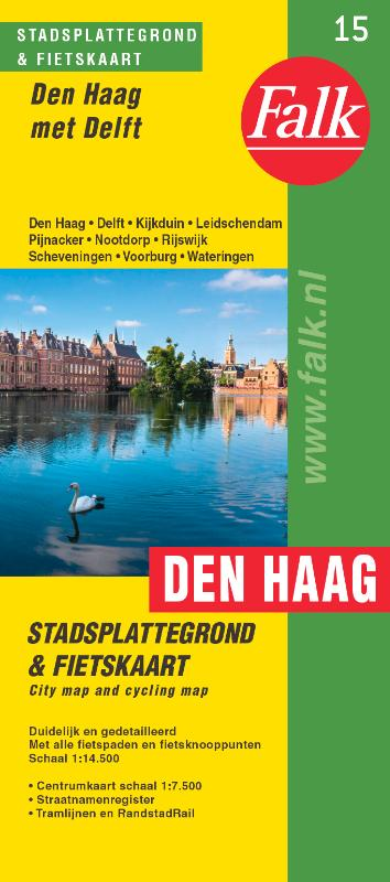 Stadsplattegrond Den Haag (met Delft) 9789028730465  Falk Pl.g. binnenland  Stadsplattegronden Den Haag, Rotterdam en Zuid-Holland