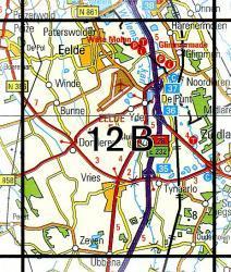 12B  Vries 1:25.000 9789035001213  Topografische Dienst / Kadaster Topografische Kaart  Wandelkaarten Groningen