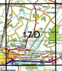 17D Nieuw Balinge 1:25.000 9789035001732  Topografische Dienst / Kadaster Topografische Kaart  Wandelkaarten Drenthe