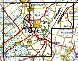 18A Ter Apel 1:25.000 9789035001800  Topografische Dienst / Kadaster Topografische Kaart  Wandelkaarten Groningen