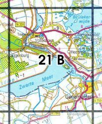 21B Vollenhove 1:25.000 9789035002111  Topografische Dienst / Kadaster Topografische Kaart  Wandelkaarten Kop van Overijssel, Vecht & Salland