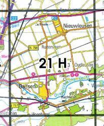21H Dalfsen 1:25.000 9789035002173  Topografische Dienst / Kadaster Topografische Kaart  Wandelkaarten Kop van Overijssel, Vecht & Salland
