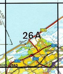 26A Almere-Buiten 1:25.000 9789035002609  Topografische Dienst / Kadaster Topografische Kaart  Wandelkaarten Flevoland en het IJsselmeer