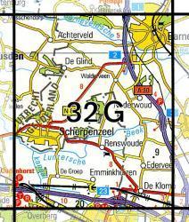 32G Barneveld 1:25.000 9789035003262  Topografische Dienst / Kadaster Topografische Kaart  Wandelkaarten Arnhem en de Veluwe