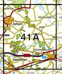 41A  Varsseveld 1:25.000 9789035004108  Topografische Dienst / Kadaster Topografische Kaart  Wandelkaarten Gelderse IJssel en Achterhoek