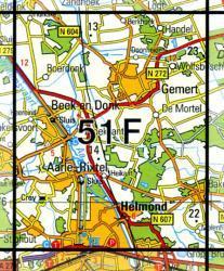 51F  Helmond 1:25.000 9789035005150  Topografische Dienst / Kadaster Topografische Kaart  Wandelkaarten Noord-Brabant