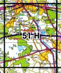 51H  Mierlo 1:25.000 9789035005174  Topografische Dienst / Kadaster Topografische Kaart  Wandelkaarten Noord-Brabant