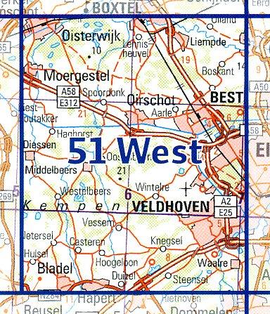 51  West 9789035005181  Topografische Dienst / Kadaster Ned. 1:50.000  Wandelkaarten Noord-Brabant