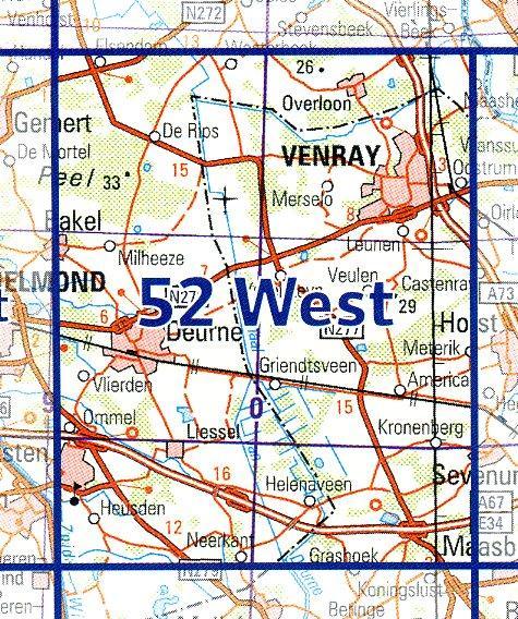 52  West 9789035005280  Topografische Dienst / Kadaster Ned. 1:50.000  Wandelkaarten Noord- en Midden-Limburg, Noord-Brabant