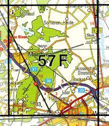 57F  Weert 1:25.000 9789035005754  Topografische Dienst / Kadaster Topografische Kaart  Wandelkaarten Noord- en Midden-Limburg, Noord-Brabant