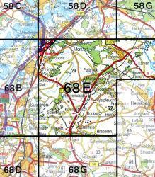 68E  Montfort 1:25.000 9789035006843  Topografische Dienst / Kadaster Topografische Kaart  Wandelkaarten Noord- en Midden-Limburg