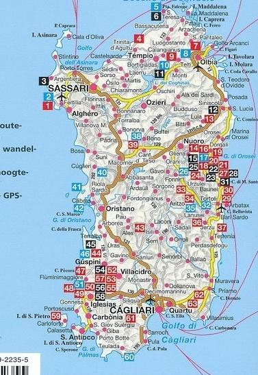 Sardinië - Rother wandelgids 9789038922355  Elmar RWG  Wandelgidsen Sardinië