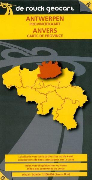 Antwerpen 1:100.000 9789052080574  De Rouck - Geocart Provinciekaarten België  Landkaarten en wegenkaarten Vlaanderen