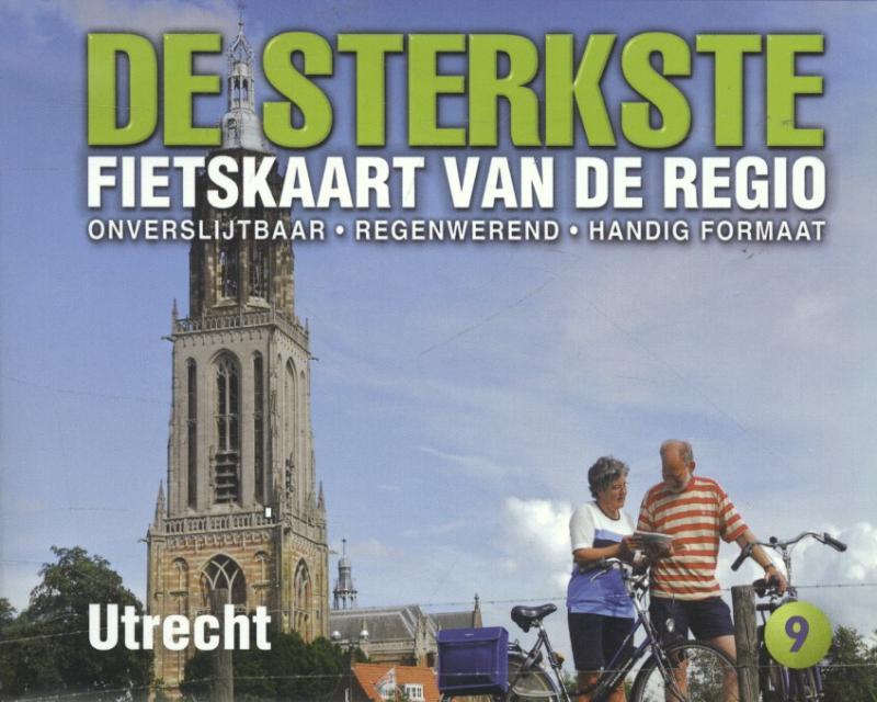 DSF-09 De sterkste fietskaart van Utrecht 1:50.000 9789058817129  Buijten & Schipperheijn DSF  Fietskaarten Utrecht