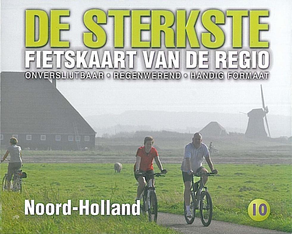 DSF-10 De sterkste fietskaart van Noord-Holland 1:50.000 9789058817211  Buijten & Schipperheijn DSF  Fietskaarten Noord-Holland