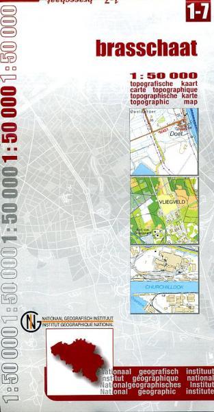 NGI-01-07  Brasschaat (topografische kaart 1:50.000) 9789059340107  NGI Belgie 1:50.000  Wandelkaarten Vlaanderen