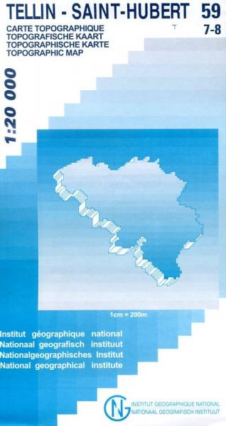NGI-59/7-8  Grupont-St.Hubert | topografische wandelkaart 1:20.000 9789059343337  NGI Belgie 1:20.000/25.000  Wandelkaarten Wallonië (Ardennen)