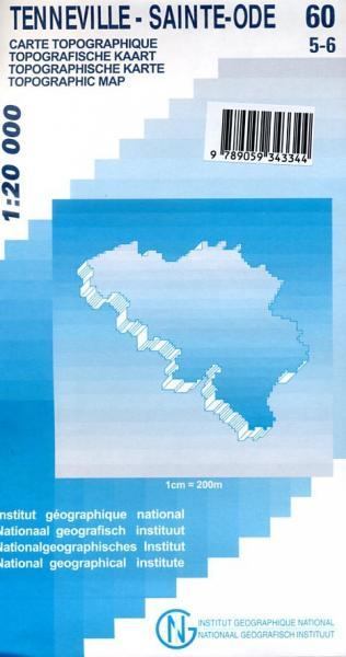NGI-60/5-6  Tenneville/St-Ode | topografische wandelkaart 1:20.000 9789059343344  NGI Belgie 1:20.000/25.000  Wandelkaarten Wallonië (Ardennen)