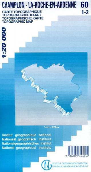 NGI-60/1-2  Champlon, La-Roche-en-Ardenne | topografische wandelkaart 1:20.000 9789059343849  NGI Belgie 1:20.000/25.000  Wandelkaarten Wallonië (Ardennen)