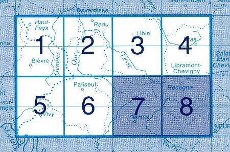 NGI-64/7-8  Bertrix - Recogne | topografische wandelkaart 1:20.000 9789059343856  NGI Belgie 1:20.000/25.000  Wandelkaarten Wallonië (Ardennen)