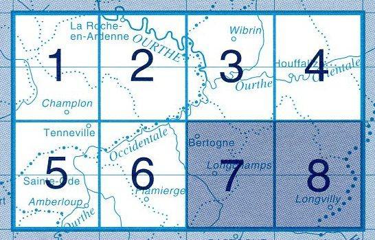 NGI-60/7-8  Bertogne/Longvilly   topografische wandelkaart 1:20.000 9789059344068  NGI Belgie 1:20.000/25.000  Wandelkaarten Wallonië (Ardennen)