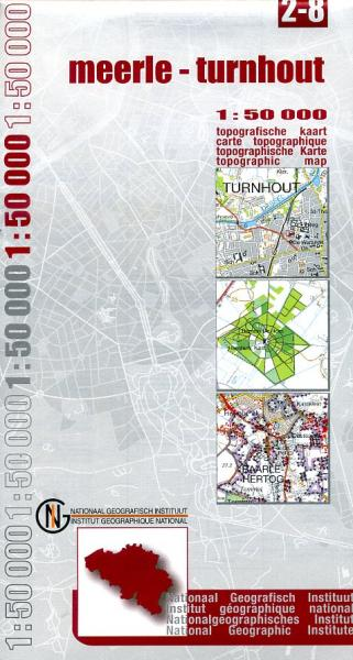 NGI-02-08  Turnhout (topografische kaart 1:50.000) 9789059344723  NGI Belgie 1:50.000  Wandelkaarten Vlaanderen