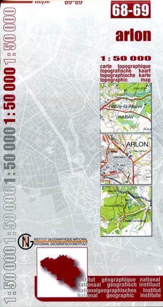 NGI-68-69  Arlon-Sterpenich (topografische kaart 1:50.000) 9789059344778  NGI Belgie 1:50.000  Wandelkaarten Wallonië (Ardennen)