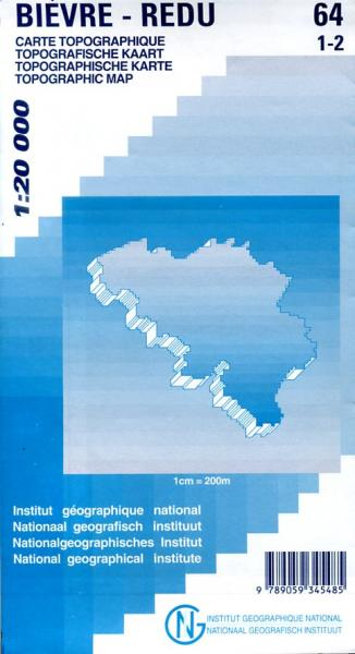 NGI-64/1-2  Haut-Fays - Redu | topografische wandelkaart 1:20.000 9789059345485  NGI Belgie 1:20.000/25.000  Wandelkaarten Wallonië (Ardennen)