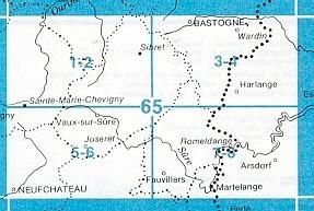 NGI-65/7-8  Fauvillers-Romeldange | topografische wandelkaart 1:20.000 9789059345553  NGI Belgie 1:20.000/25.000  Wandelkaarten Wallonië (Ardennen)