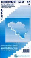 NGI-67/3-4  Herbeumont-Suxy | topografische wandelkaart 1:20.000 9789059345577  NGI Belgie 1:20.000/25.000  Wandelkaarten Wallonië (Ardennen)