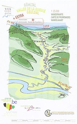 Geuldal / Via Gulia 1:25.000 9789059346390  NGI / VVV   Wandelkaarten Wallonië (Ardennen)