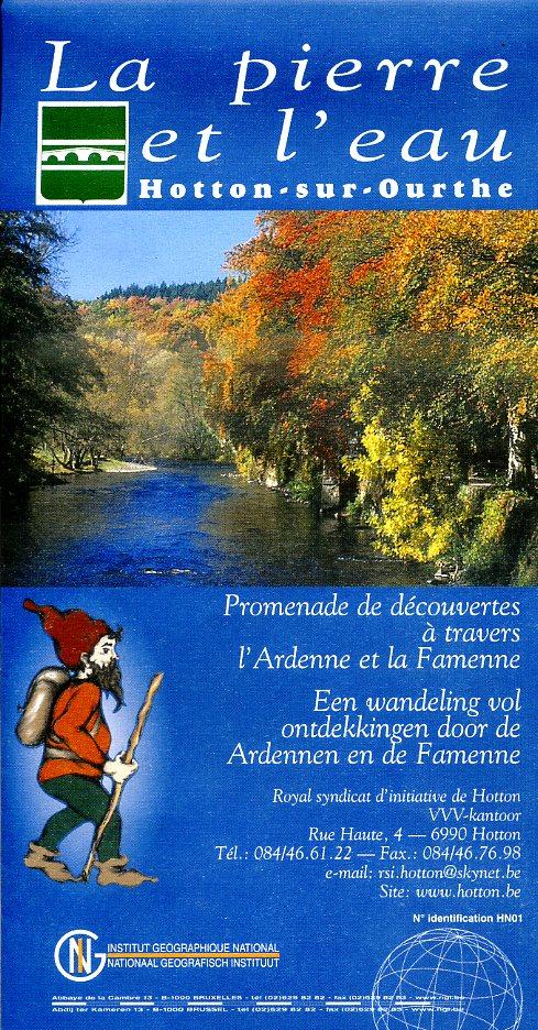 NV   La Pierre + l Eau (Hotton) 9789059347502  NGI NGI/VVV-kaarten 25d  Wandelkaarten Wallonië (Ardennen)