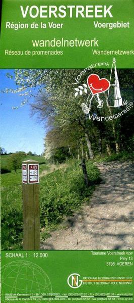 Voerstreek wandelnetwerk 1:12.000 9789059349186  NGI / Toerisme Voerstreek   Wandelkaarten Maastricht en Zuid-Limburg, Vlaanderen & Brussel