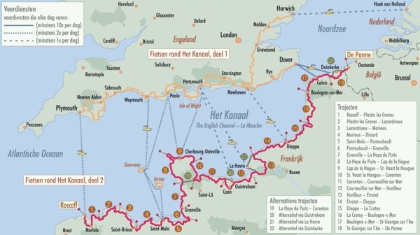 Fietsen rond Het Kanaal, Deel 2  West-Frankrijk 9789077056349  ReCreatief Fietsen   Fietsgidsen, Meerdaagse fietsvakanties Noordwest-Frankrijk