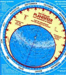Nederlandse planisfeer (sterrenkaart) 9789080149618  Rob Walrecht   Reisgidsen Universum (Heelal)