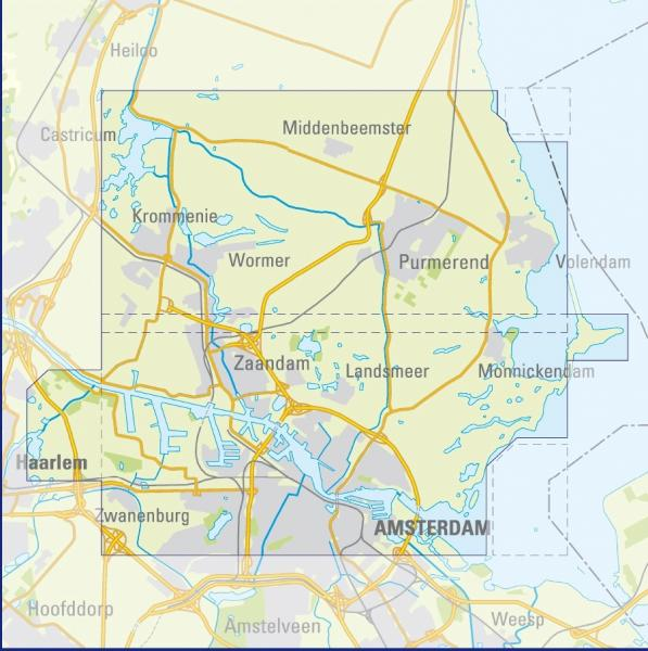AW  Amsterdam Waterland | Trage Paden wandelkaart 1:25.000 9789081396103 red.: De Noorderzon, Lopende Zaken, Pied à Terre Reisboekhandel De Noorderzon Trage Paden  Wandelkaarten Amsterdam, Noord-Holland