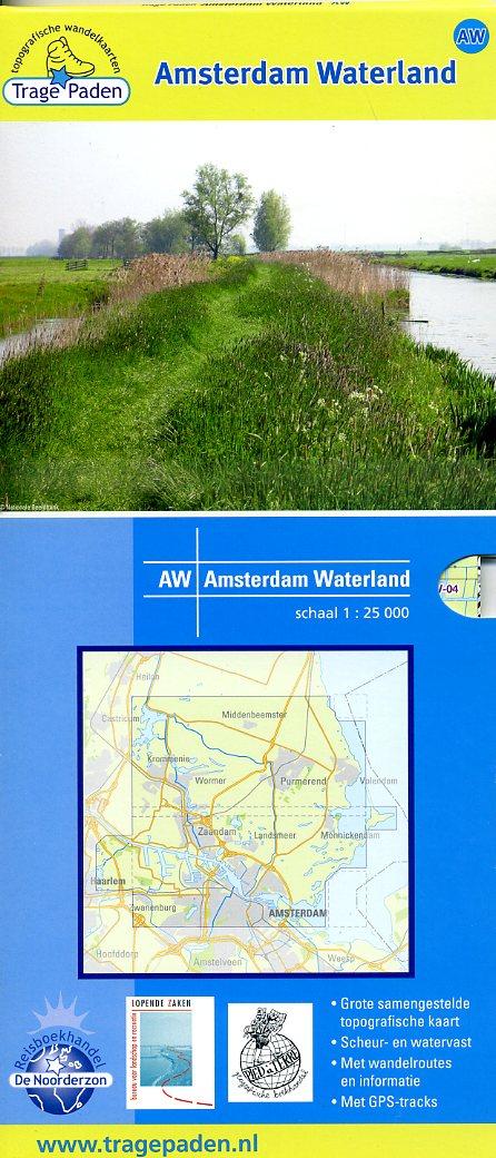 AW  Amsterdam Waterland | Trage Paden wandelkaart 1:25.000 9789081396103 red.: De Noorderzon, Lopende Zaken, Pied à Terre De Noorderzon Trage Paden  Wandelkaarten Amsterdam, Noord-Holland