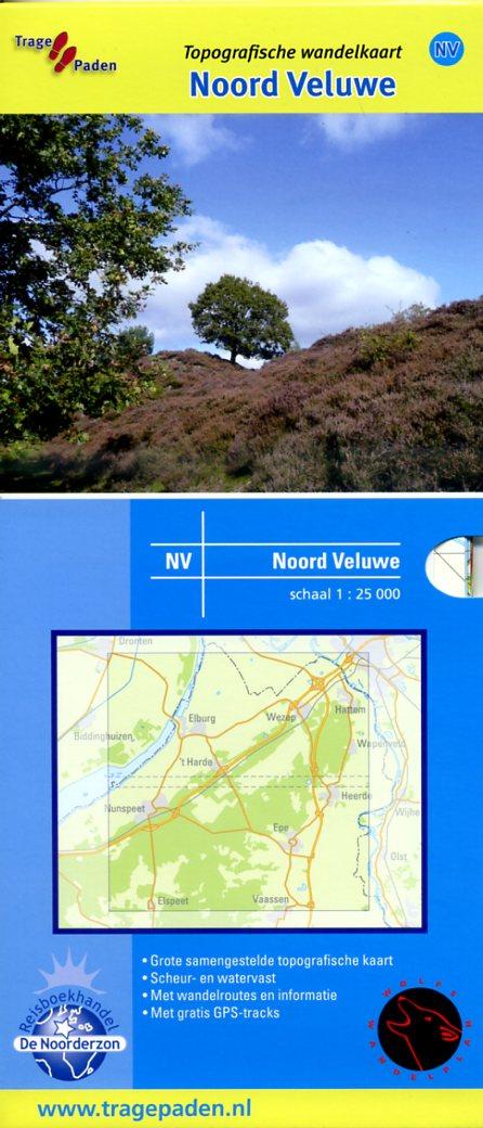 NV  Noord-Veluwe | Trage Paden wandelkaart 1:25.000 9789081396172 Rob Wolfs /  www.WolfsWandelplan.nl De Noorderzon Trage Paden  Wandelkaarten Arnhem en de Veluwe