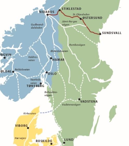 St. Olavspad: van Selånger naar Trondheim 9789082251029 Ria Warmerdam Op Vrije Voeten   Meerdaagse wandelroutes, Wandelgidsen Noorwegen, Zweden
