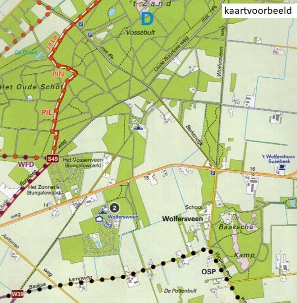 WA-3 Zuidwest Achterhoek   wandelkaart 1:25.000 9789082481716  Achterhoek Toerisme Wandelnetwerk Achterhoek  Wandelkaarten Gelderse IJssel en Achterhoek