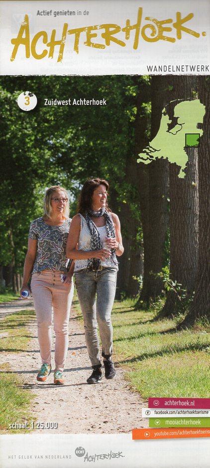WA-3 Zuidwest Achterhoek | wandelkaart 1:25.000 9789082481716  Achterhoek Toerisme Wandelnetwerk Achterhoek  Wandelkaarten Gelderse IJssel en Achterhoek