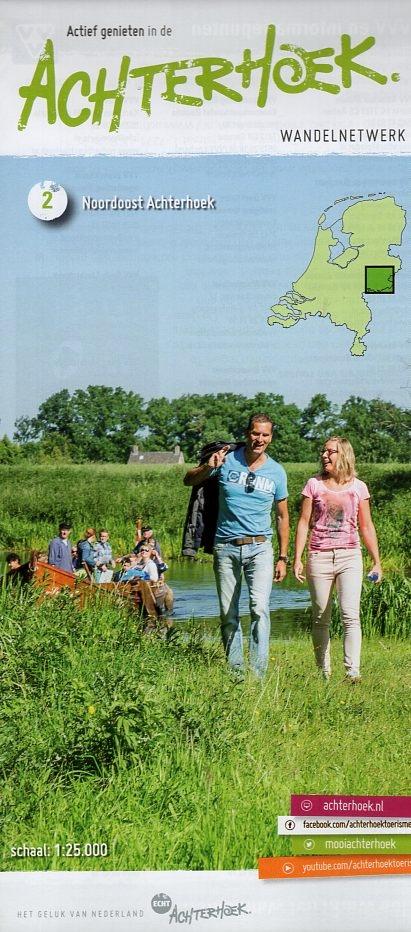 WA-2 Noordoost Achterhoek | wandelkaart 1:25.000 9789082481730  Achterhoek Toerisme Wandelnetwerk Achterhoek  Wandelkaarten Gelderse IJssel en Achterhoek