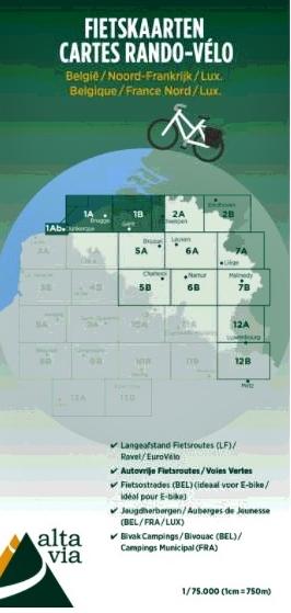 ALV-01  Provincies Oost & West Vlaanderen 1:75.000 9789082714401  Alta Via   Fietskaarten Vlaanderen