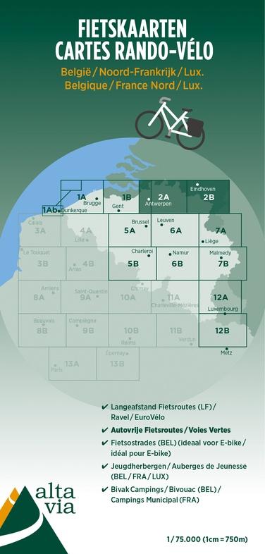 ALV-02  Provincie Antwerpen & Limburg 1:75.000 9789082714418  Alta Via   Fietskaarten Vlaanderen