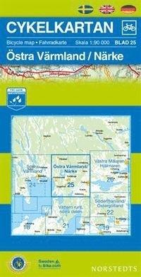 NC-25  Värmland Oost / Närke 9789113042152  Norstedts Cykelkartan Fietskaarten Zweden  Fietskaarten Zuid-Zweden